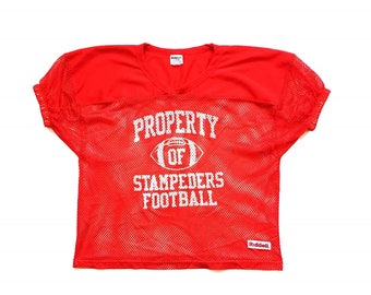 80s RIDDELL Calgary Stampeders CFL football jersey size 2XL / 3XL perforated activewear top nylon