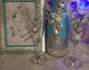 Champaign masquerade set