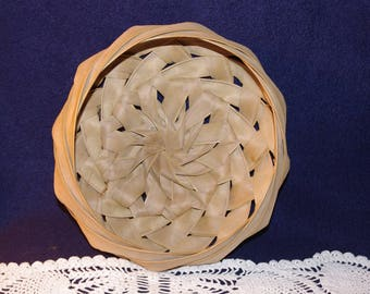 Handmade Weaved Palm Frond Basket