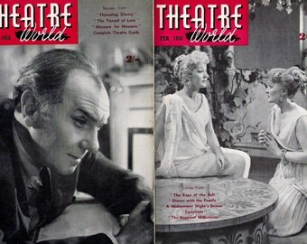 Theatre World Magazine 1958, COMPLETE YEAR , All 12 Issues,  in Very Good Condition