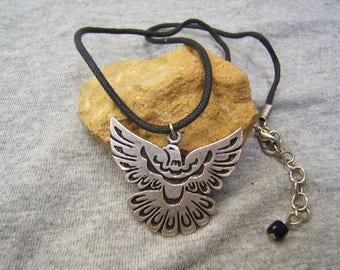 Eagle Necklace, Eagle Jewelry, Eagle Pendant, Indian Necklace, Jewelry, Indian Wear, Necklaces, Eagles, Silver Necklaces, #80390-1