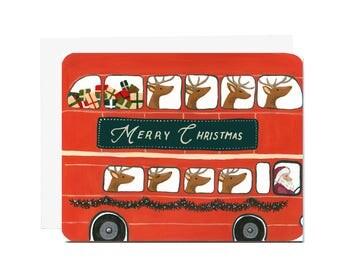Santa Bus Card