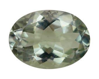 Green Amethyst Oval Cut Loose Gemstone 1A Quality 14x10mm TGW 4.30 cts.