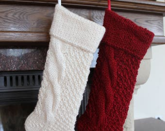 Personalized Christmas Stocking Christmas Stocking Christmas decoration Hand knit Christmas Stocking,Knitted Christmas Stocking,Stocking