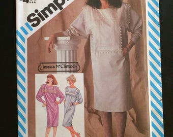 1983 Simplicity Pattern # 6154, Misses Size 12, Jessica McClintock Dress, Uncut