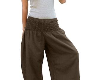 Thai Pants * Harem Pants * Harem Trousers * Sarouel * Yoga Pants * Baggy Pants * Travel * Gypsy * Hippie * Aladdin * Genie *Cotton*PS-choco