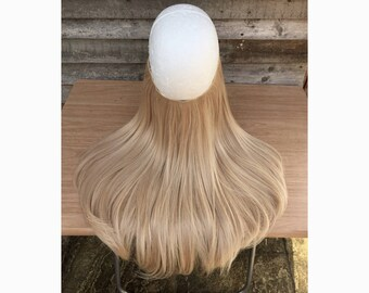 Halo hair extensions etsy halo hair extensions 18 or 24 flip in layered thick champagne medium pmusecretfo Images