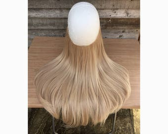 Halo hair extensions etsy halo hair extensions 18 or 24 flip in layered thick champagne medium pmusecretfo Image collections