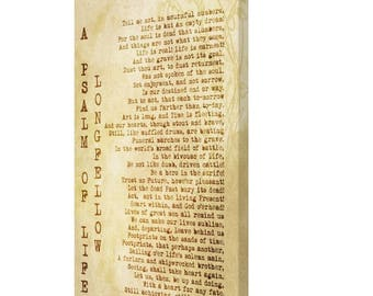 CANVAS PRINT: A Psalm of Life Henry Wadsworth Longfellow Vintage Style