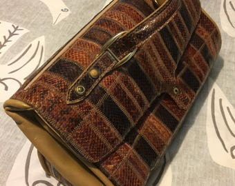Gorgeous Vintage Saks Fifth Avenue Huge Handbag Tote Made in Spain 1970's Couture ****