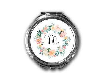 compact mirror, handbag mirror, small mirror, hand held mirror, mirror, gift for her, gift for woman, wedding favour, bridesmaid gift