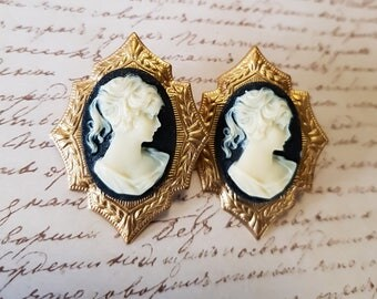 Gothic Victorian Cameo Studs
