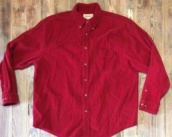 Vintage Eddie Bauer corduroy shirt