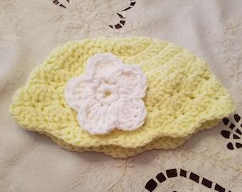 Crochet Baby Hat, Summer Hat, Baby Gift, Girls Hat, Little Girl Gift, Little Girl Hat
