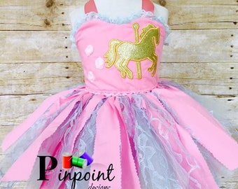 Beautiful Carrousel Outfit, super Cute!      100% made from scratch!