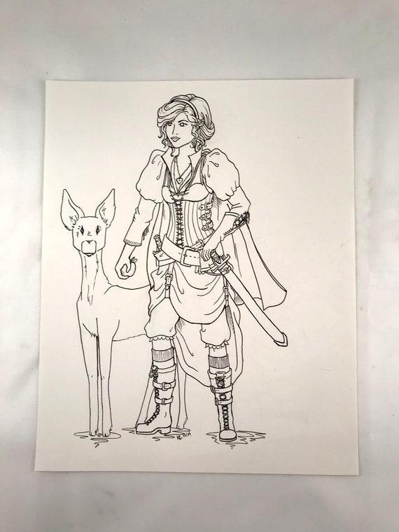 Snow White Illustration   Empowered Princess Series   Women's Empowerment   Women of Power   Disney Princess Hand Drawing