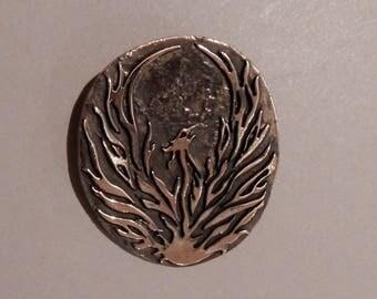 Phoenix Pendant in Bronze