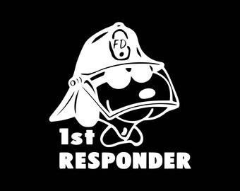 First Responder Decal First Responder Vinyl Decal First Responder Car Decal Firemen Decals Firefighter Decals Sticker Car Truck Tablet etc..
