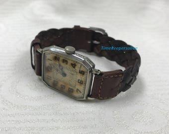 Vintage Original Mercer Good Working Condition Mechanical Wrist Watch