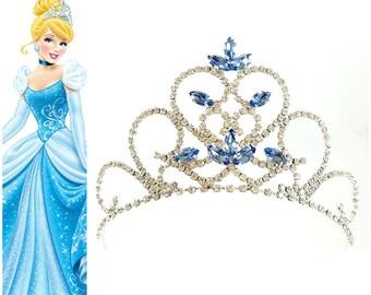 CINDERELLA RHINESTONE CROWN, Princess Cinderella Tiara ,Girls Birthday Crown, Girls Birthday Tiara, Cinderella Crown,  Cinderella Party