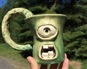 Emmy Unique Ceramic Monster Mug Cup
