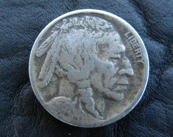 1916  US circulated  authentic vintage Buffalo Indian Nickel coin  A127