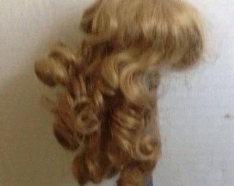 Vintage Long Blonde Doll Wig Curls