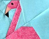 Flamingo Paper Piecing Pattern in PDF