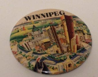 Winnipeg, Skyline, Souvenir button, pin, batch, Canada, 1990
