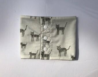 Baby Infinity scarf - Baby gift - Baby scarf bib - Baby shower - Fleece Scarf - cAT