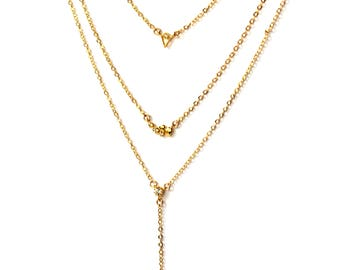 Layering necklace Set of Three/Gold/Silver
