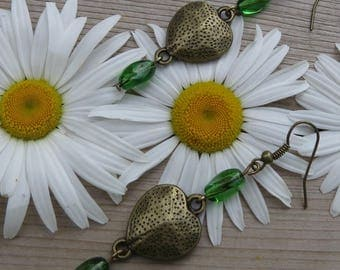 Friendship heart earrings
