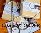 Custom Order for Dominic. Signature Eyeglass Holders.