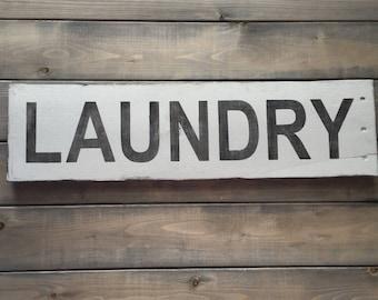 Laundry - Farmhouse sign on Reclaimed Wood