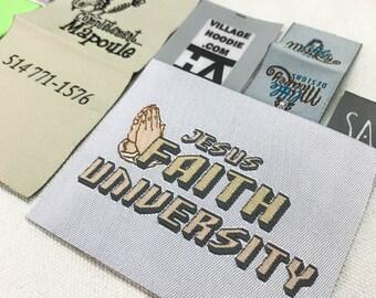 30pcs woven labels custom, woven label custom, woven labels, clothing woven labels, woven labels handmade, woven labels for hats
