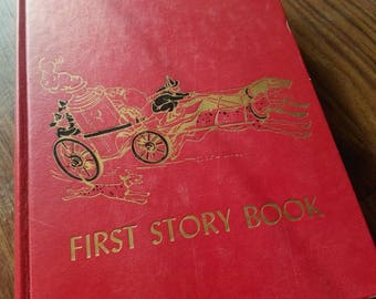Vintage Childrens First Story Book 1953. Classic Chilrends Books, Bed Time Store.  New Born Books