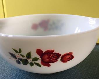 Vintage Pyrex JAJ June Rose 1960's large Cinderella bowl