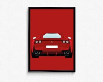 Ferrari 812 Superfast A3 Print