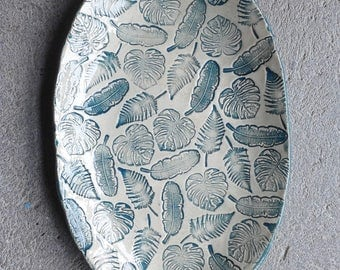 Jungle oval plate