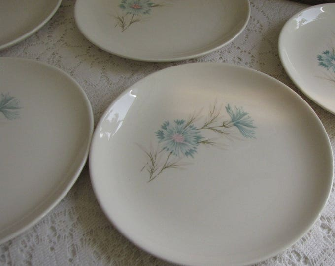 Blue Boutonniere Bread Plates Taylor, Smith & Taylor Ever Yours Series Twelve (12) Plates Available Vintage Dinnerware and Replacements