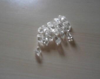 Set of 27 transparent glass beads