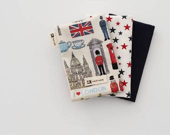 I Love London - Quarter Fabric Pack 3 Fabric 1set - Sets for 3 each 45 X 55 cm