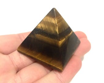 Tiger eye pyramid polished point small