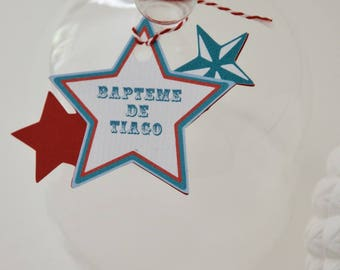 """""""Carnival"""" themed gift tag with stars"""
