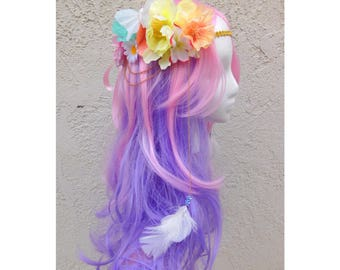 Pastel Flower Festival Headband Crown