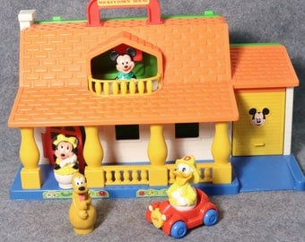 Clearance - Mickey Town Walt Disney Playset House w/ Toy Figures & Accessories, Mexico