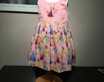 Girls party dress, Princesses, pink princess, yellow princess, Cinderella, summer dress age 2 years