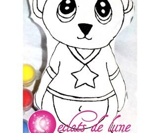 Doudou cotton Teddy bear painting 20cm