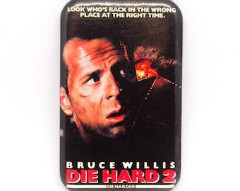 Vintage 1990 Die Hard 2 Movie Promotional Badge