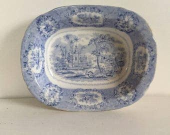 Blue and White Transferware Bowl